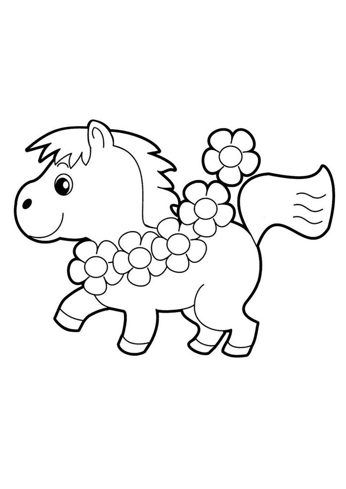Horse coloring page 32