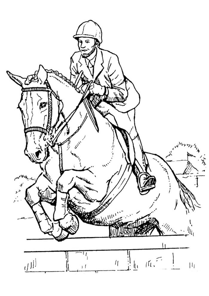 Horse coloring page 37