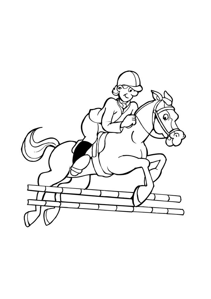 Horse coloring page 42