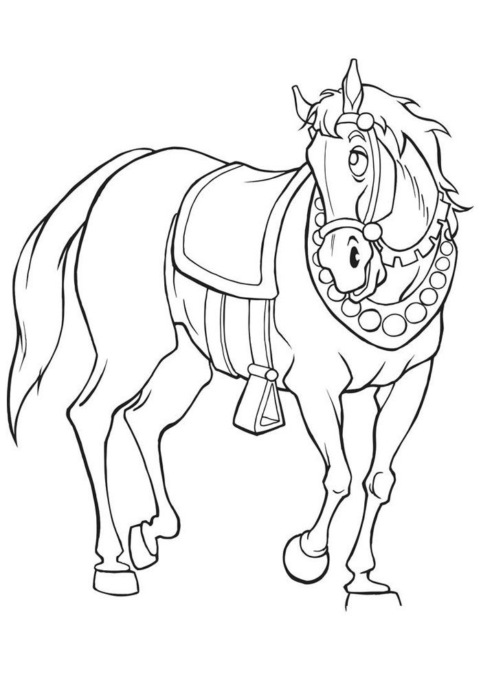 Horse coloring page 43