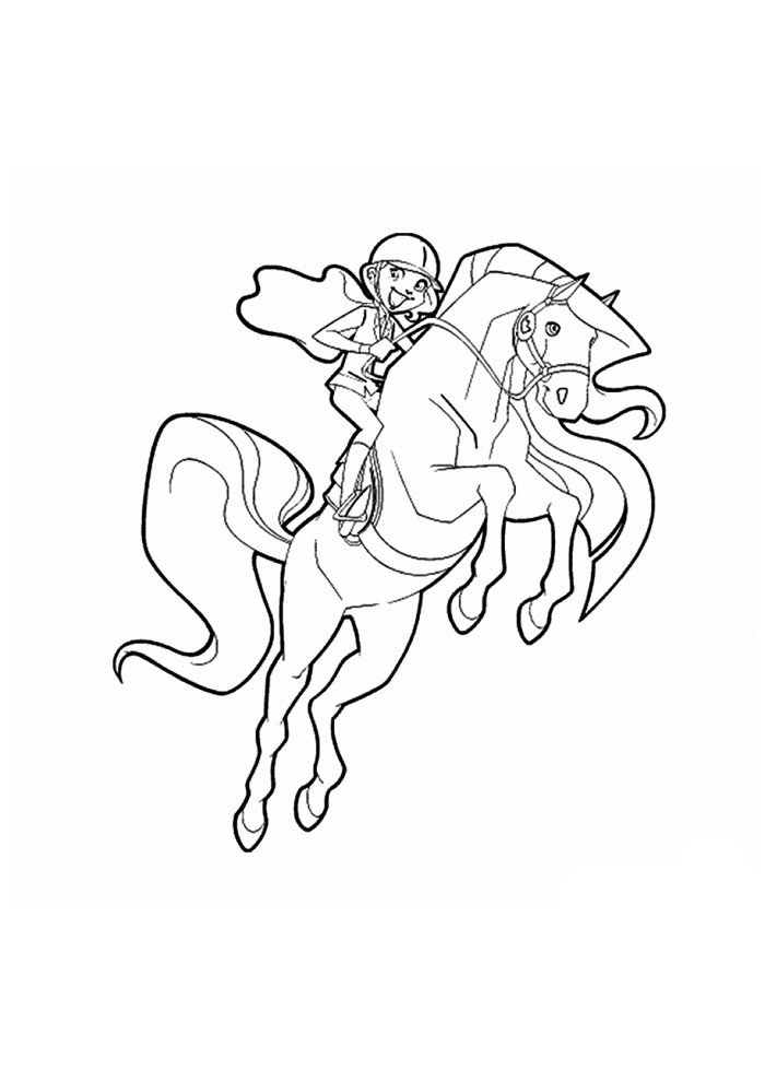 Horse coloring page 44
