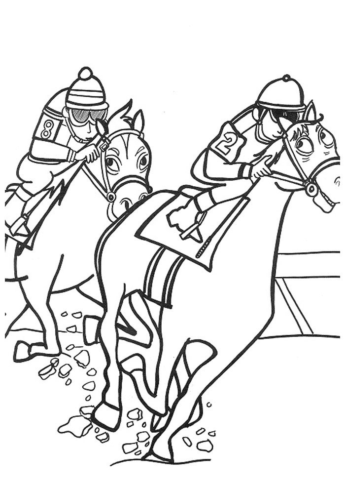 Horse coloring page 48