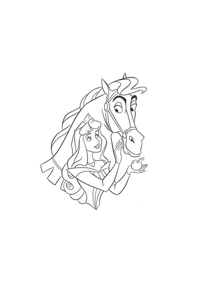 Horse coloring page 51