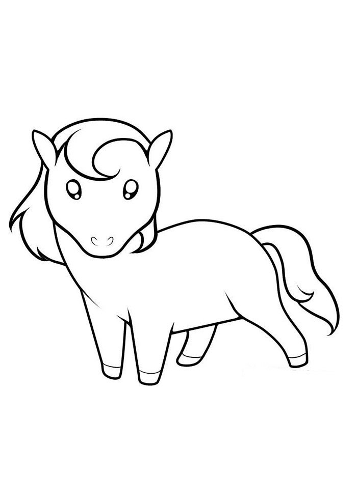 Horse coloring page 52