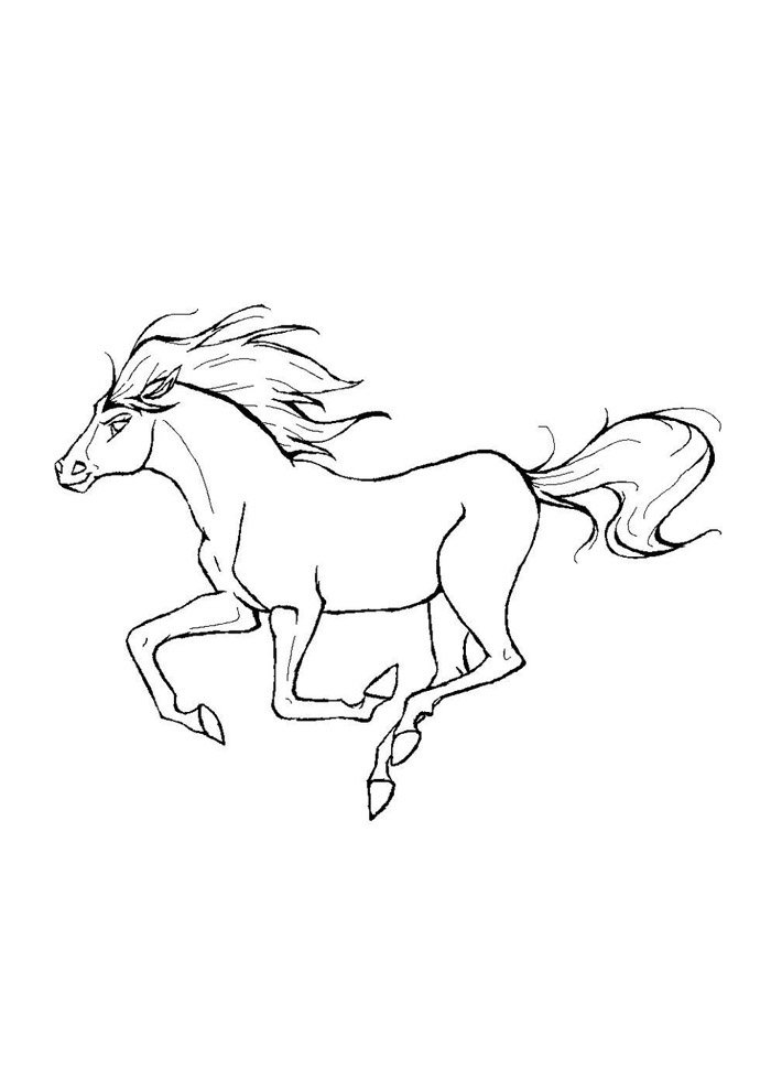 Horse coloring page 55