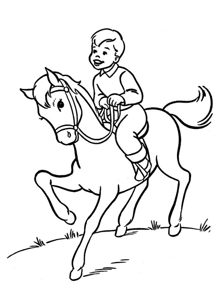 Horse coloring page 56