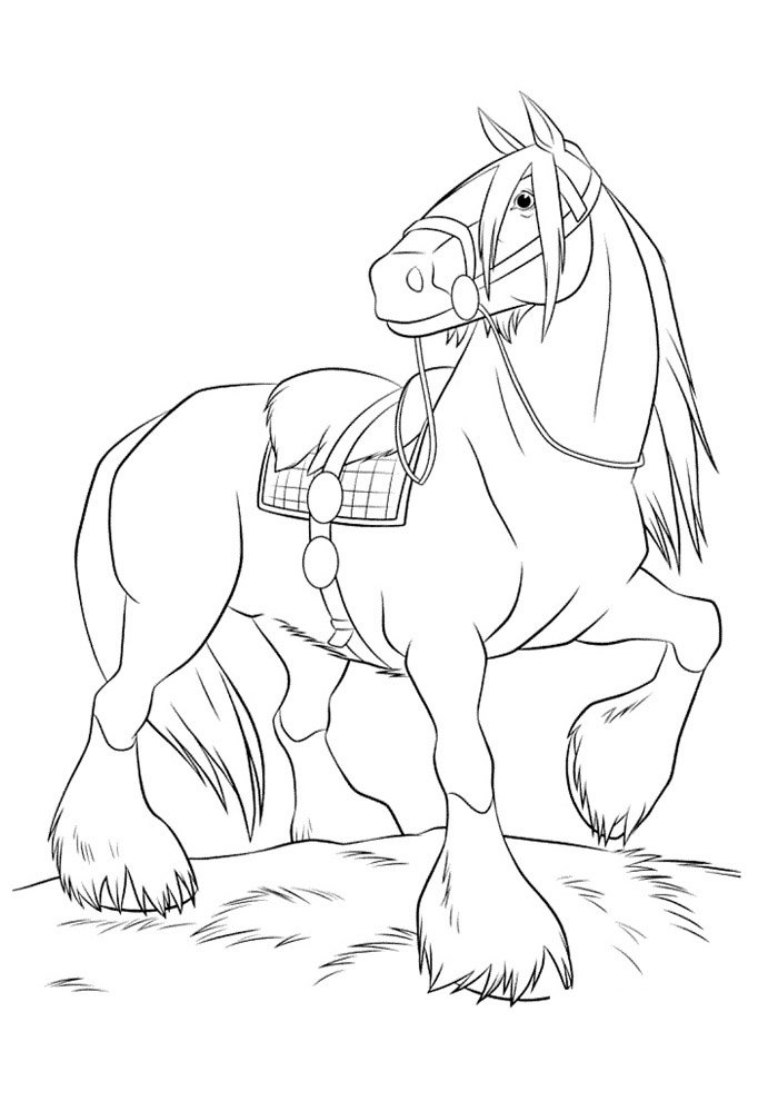 Horse coloring page 59