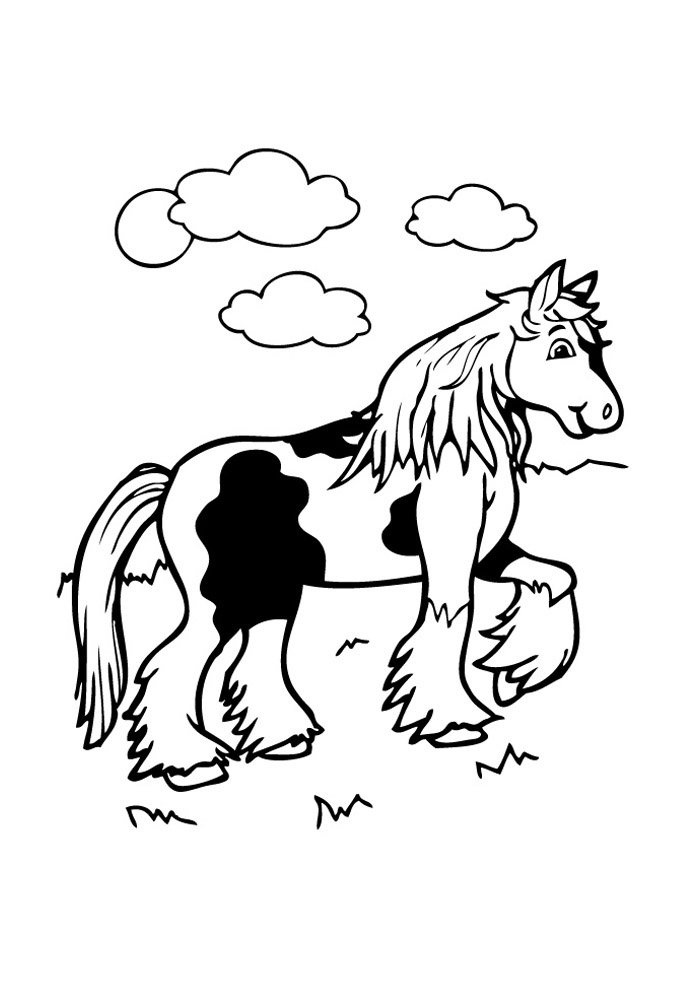 Horse coloring page 70