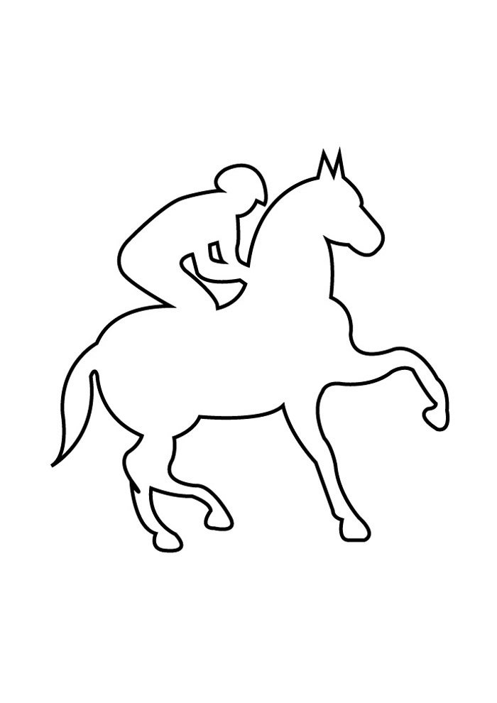 Horse coloring page 72