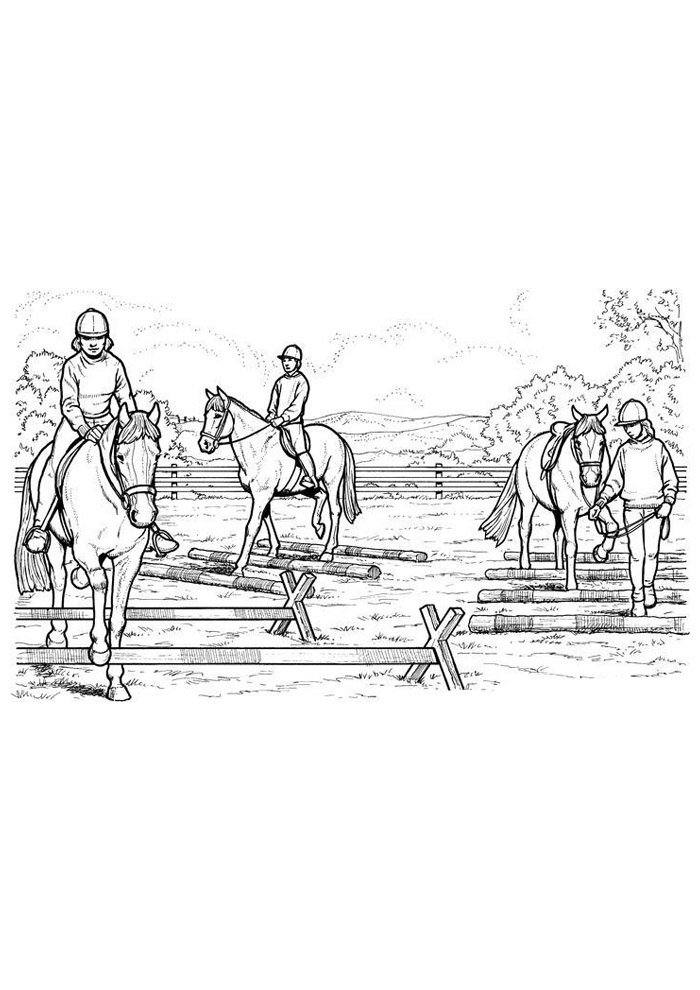 Horse coloring page 74