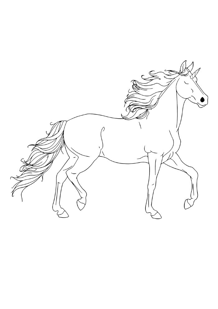 adult unicorn coloring page