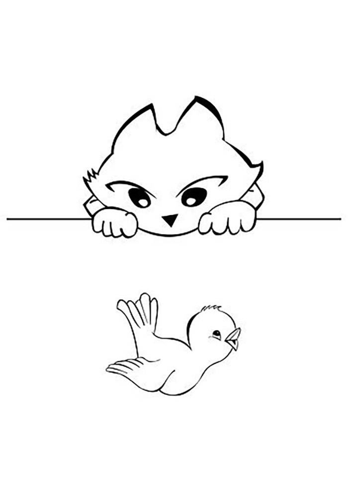 baby kitten coloring page