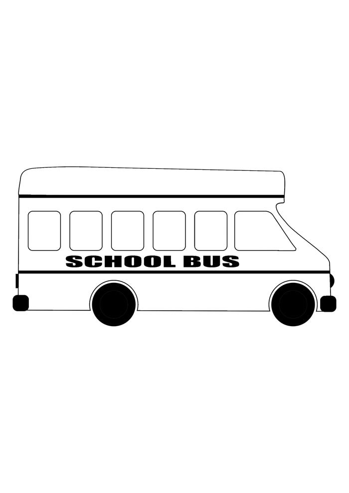 back to school coloring page big bus