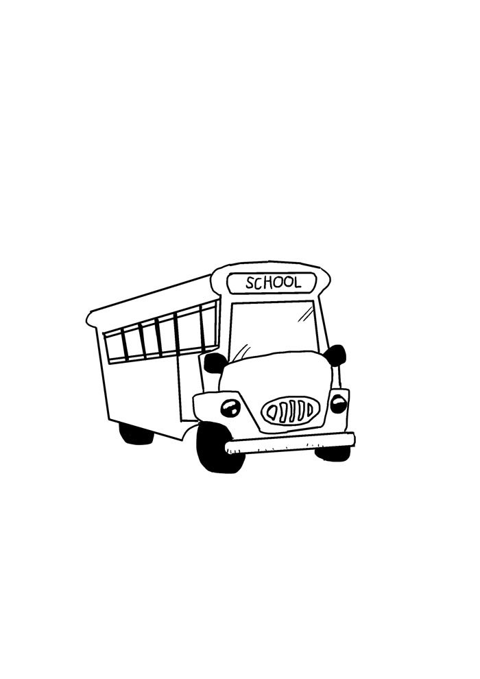 back to school coloring page bus