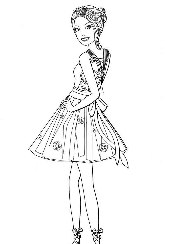 barbie coloring page ballerina