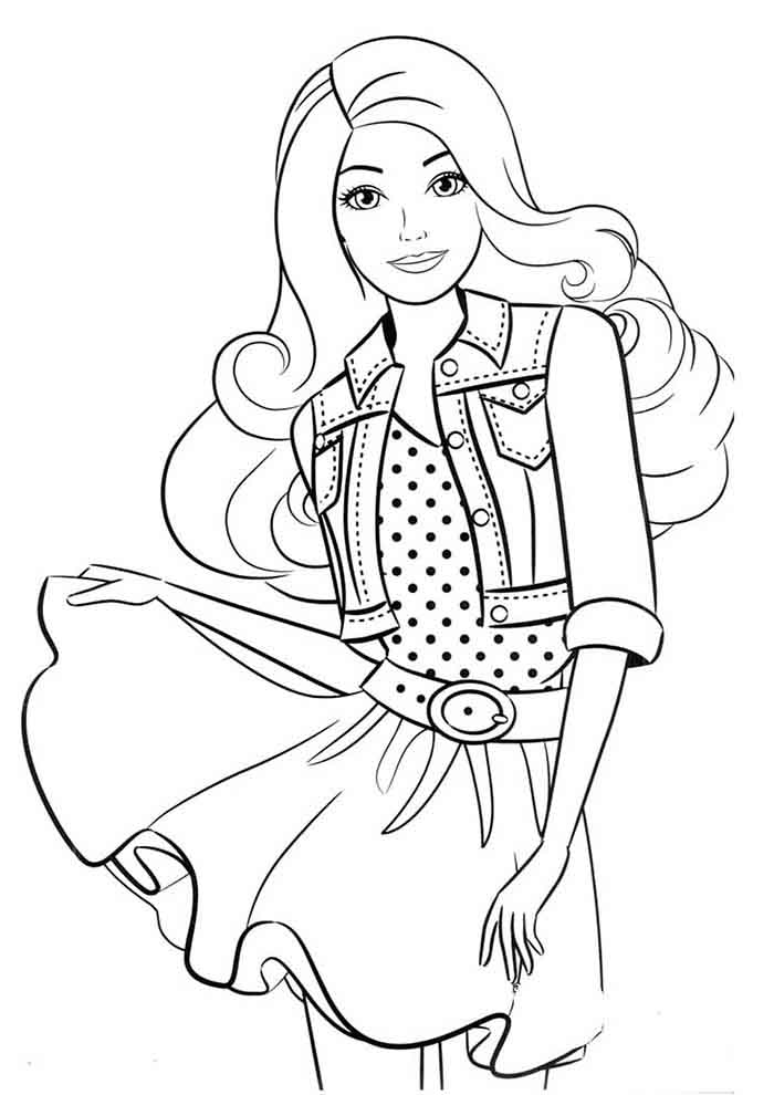 barbie coloring page mini skirt