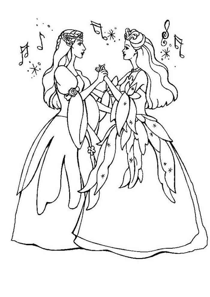 barbie coloring page princesses