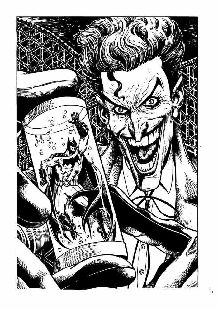 batman and joker coloring page