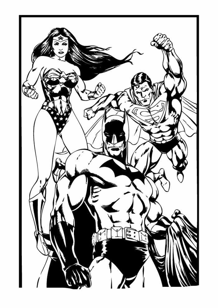 batman and superman coloring page