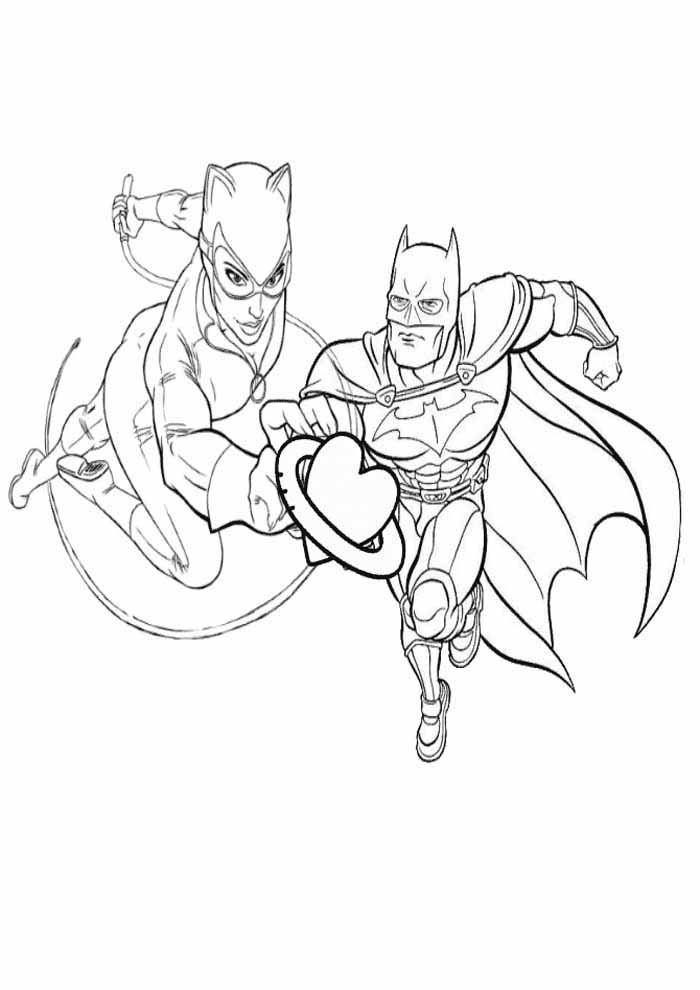 batman love coloring page