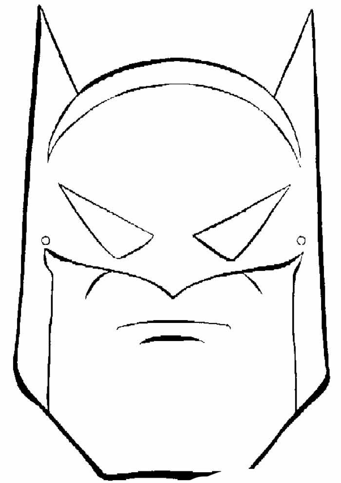 batman mask coloring page