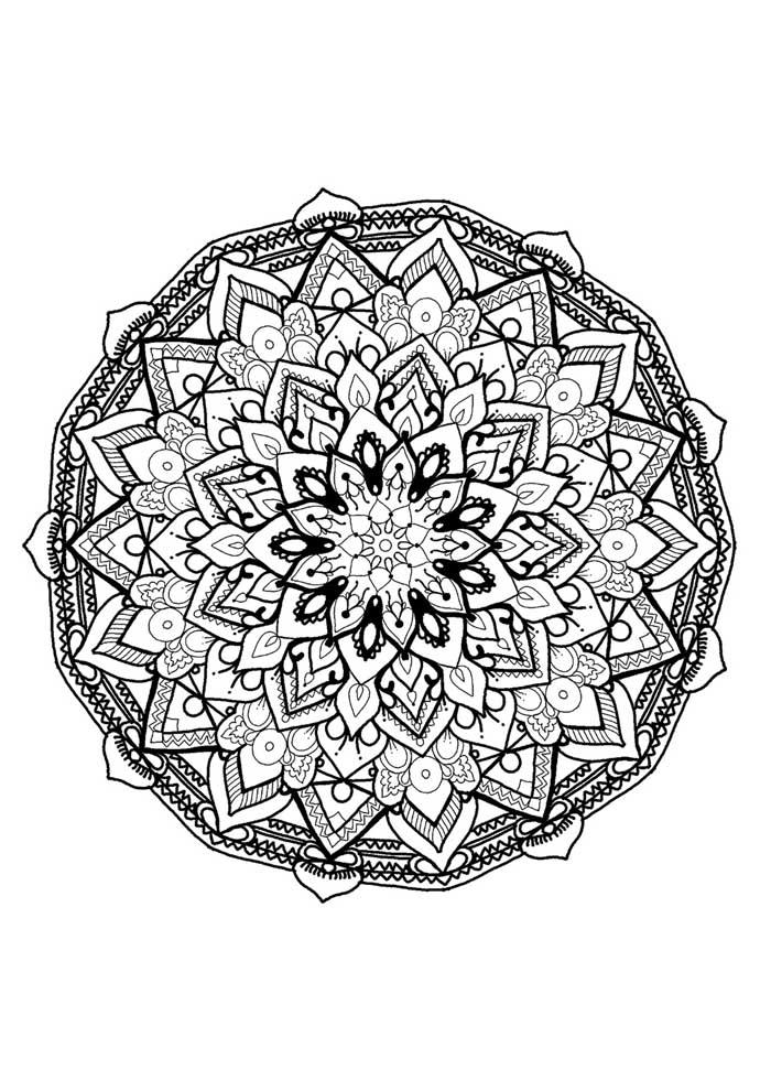 beautiful mandala coloring page