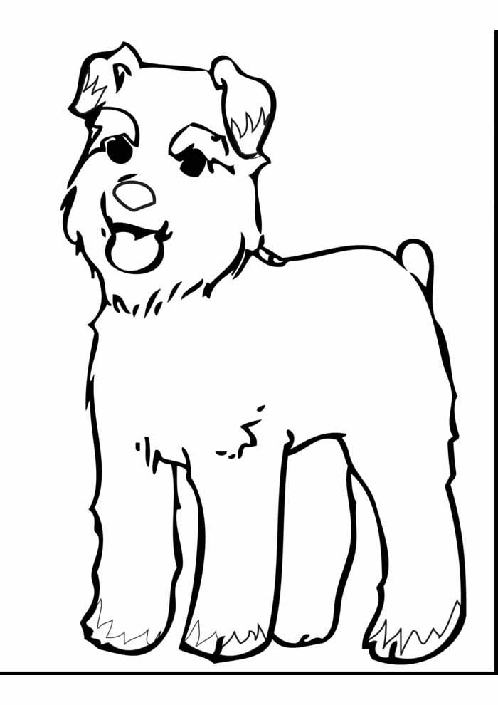 big cute dog coloring page