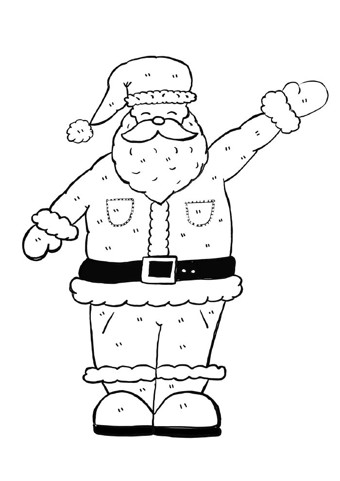 big santa claus coloring page