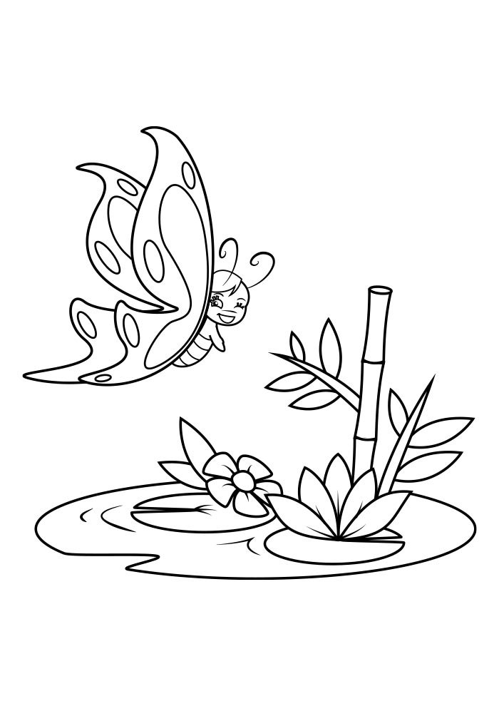 butterfly coloring page 30