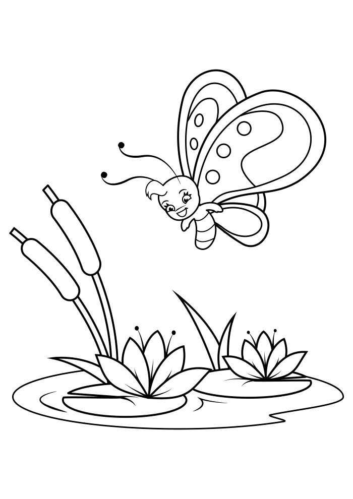 butterfly coloring page 32