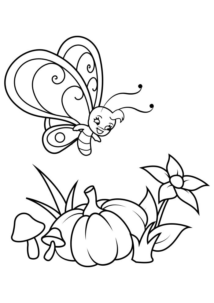 butterfly coloring page 35