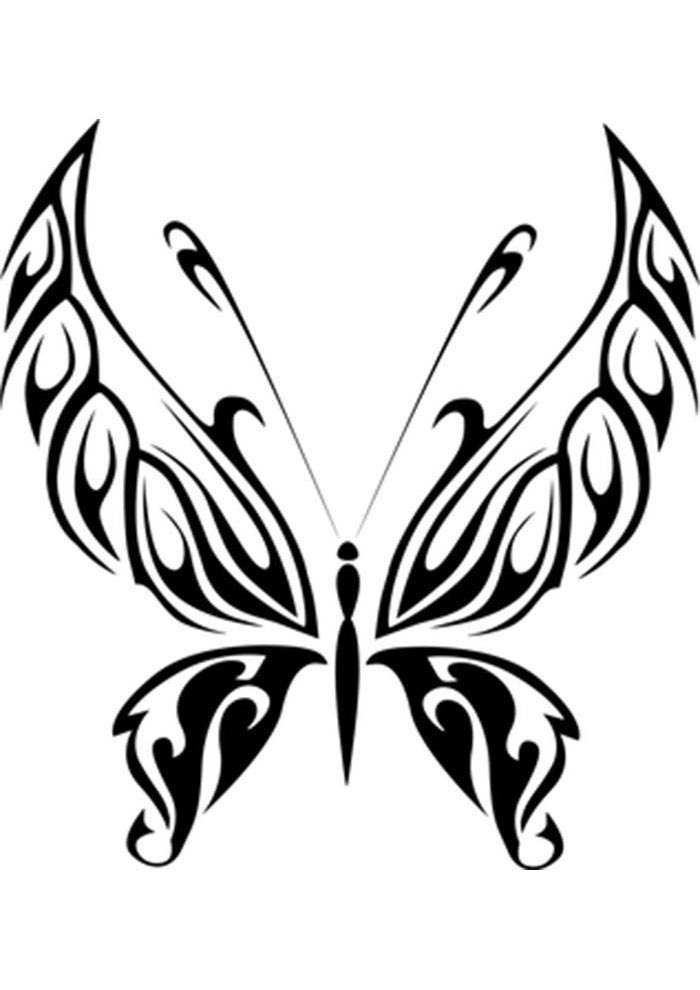 butterfly coloring page easy