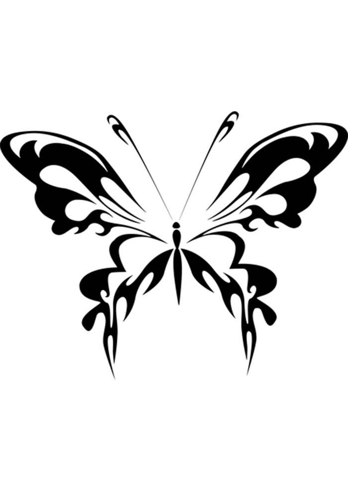 butterfly to colour and print