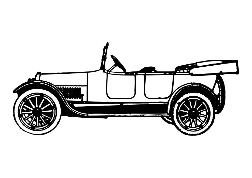 car coloring page 20th