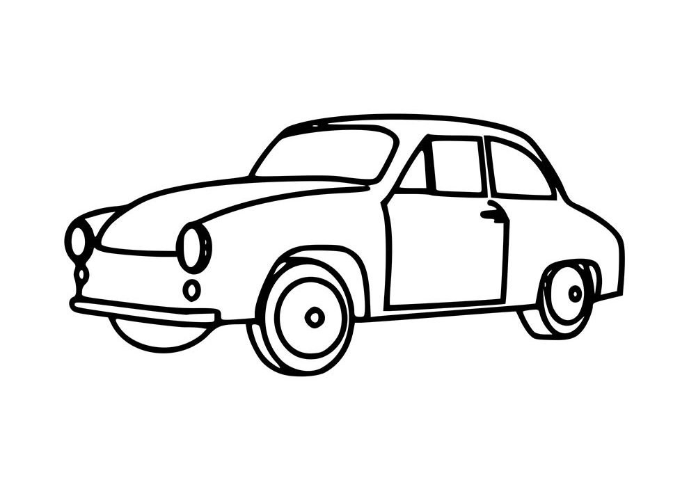 car coloring page 40th