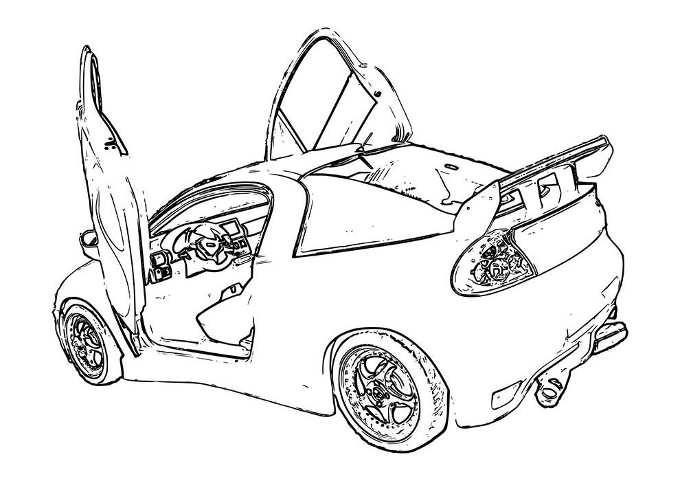 car coloring page back to the future