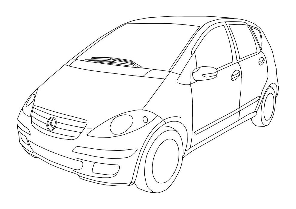 car coloring page class A