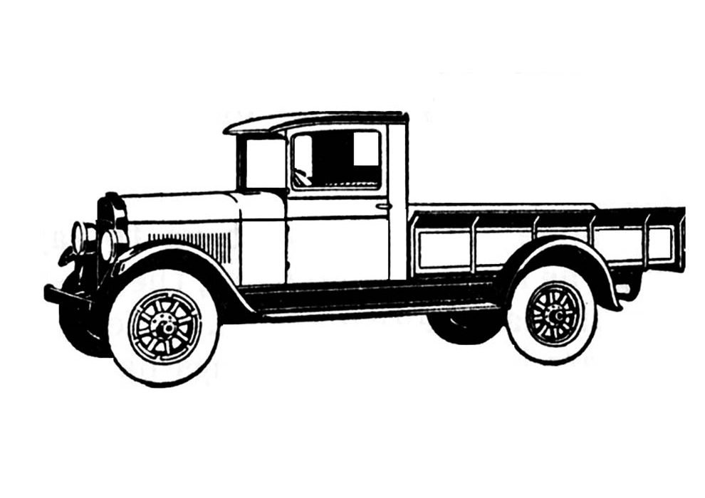 car coloring page old truck