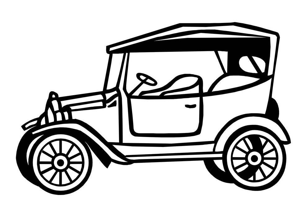 car coloring page vintage