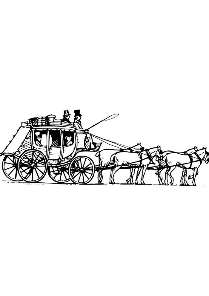 carriage horse coloring page