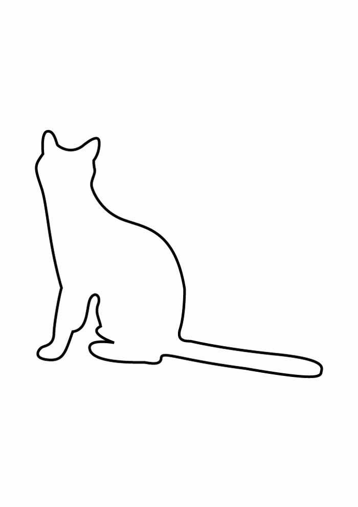 cat coloring page edge sitting