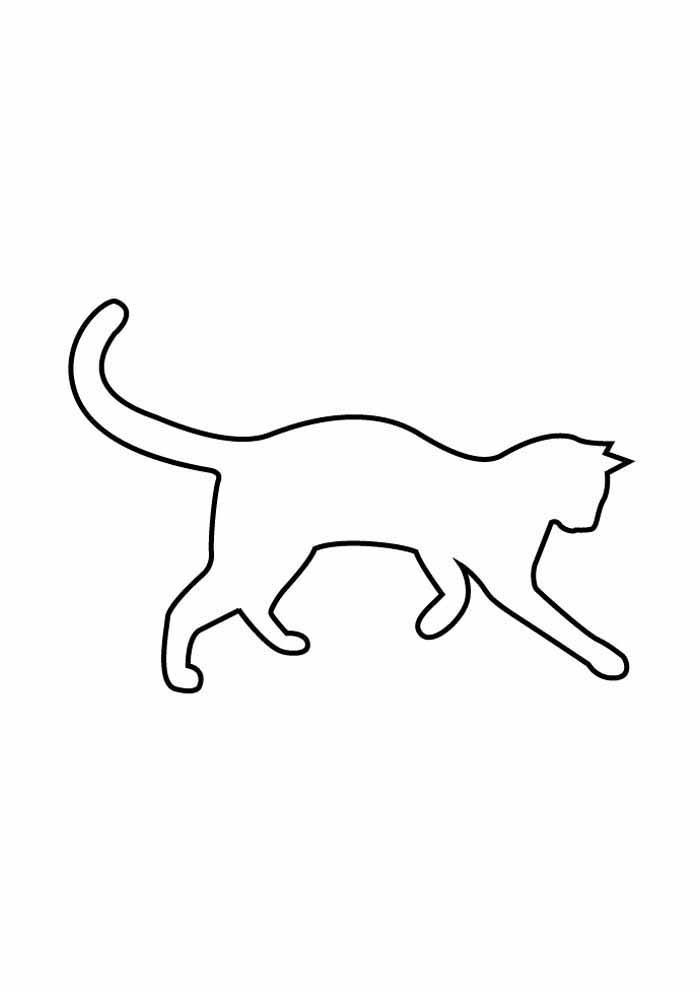 cat coloring page edge walking