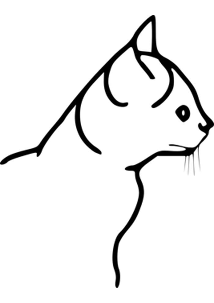 cat coloring page to print