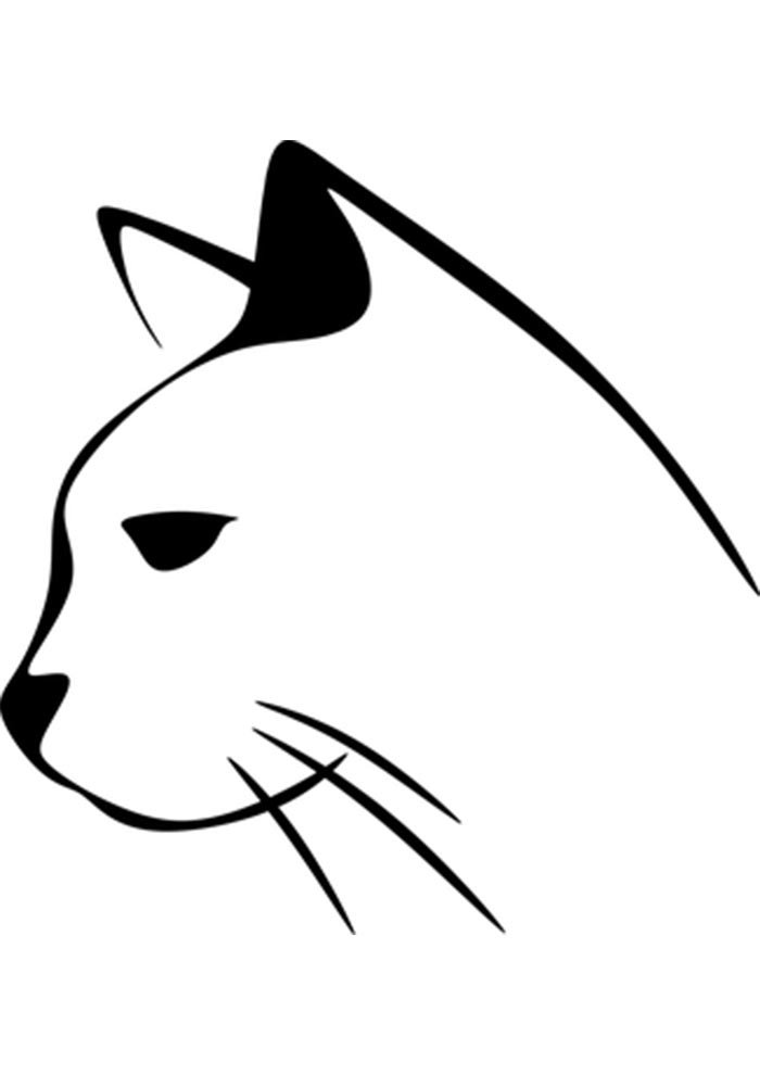 cat image coloring page