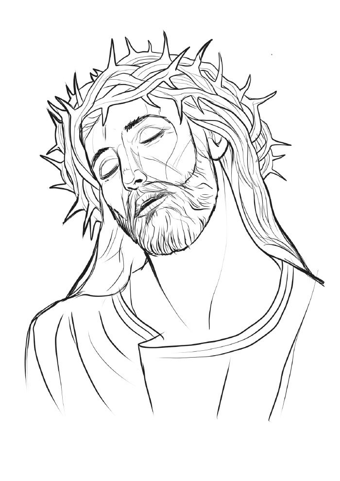christmas coloring page jesus with crown