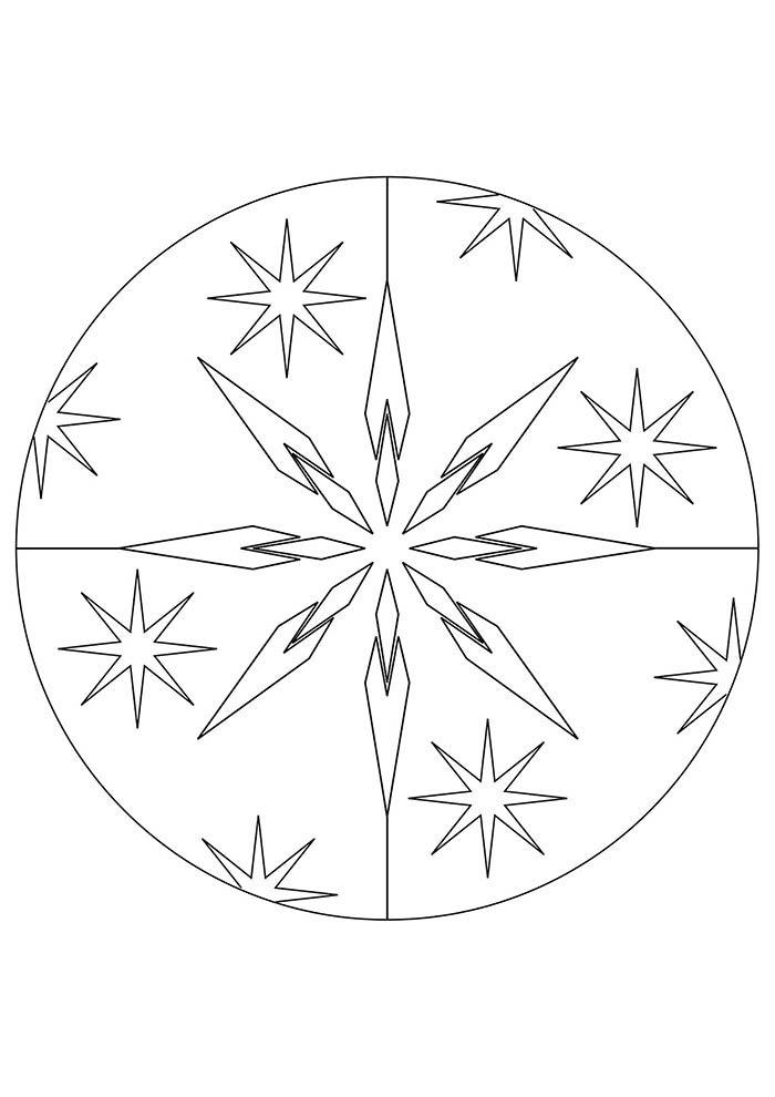 christmas coloring page mandala