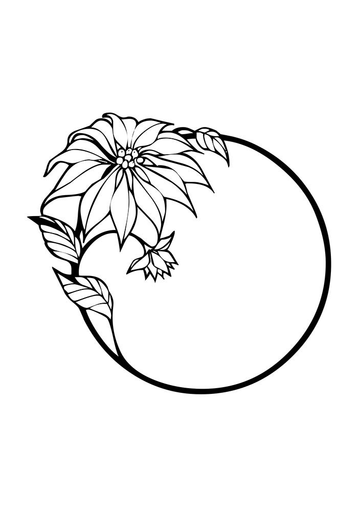 christmas coloring page ornament