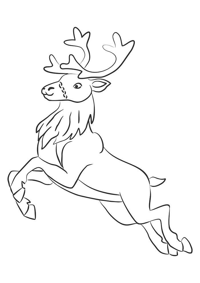 christmas coloring page reindeer