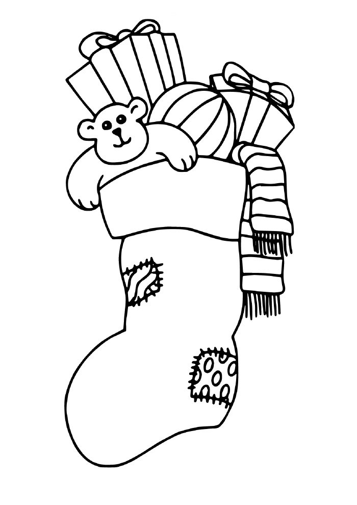 christmas coloring page stocking