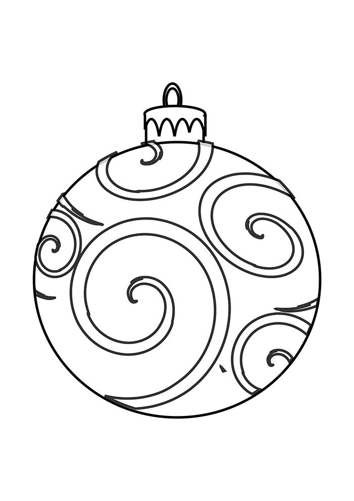 christmas coloring page tree detailed ornament